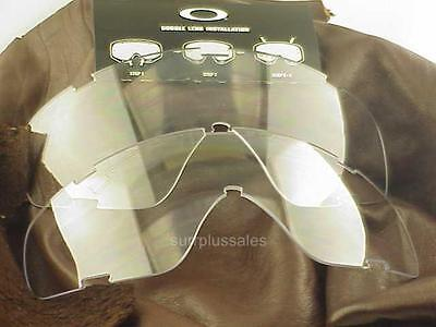 3-Oakley  SI Ballistic Goggle Replacement Lens 11-112 CLEAR NEW