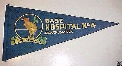Ww Ii Us Navy Pennant Base Hospital  No 4 - South Pacific - 1943 / 1944