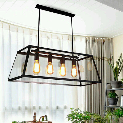 Large Chandelier lighting Glass Pendant Light Kitchen Flush Mount Ceiling Lights