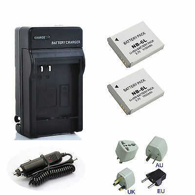 Battery NB-6L Charger for Canon Powershot SX260, SX280, SX510, SX600, SX610 HS