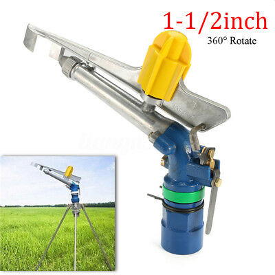 AU 1.5'' Impact Sprinkler Spray Gun Alloy Adjustable Water Irrigation Lawn 360°
