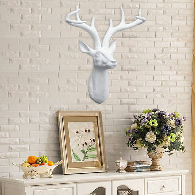 Wall Mounted Descro Stag Deer Head With Antlers Resin Christmas Home Decro AU