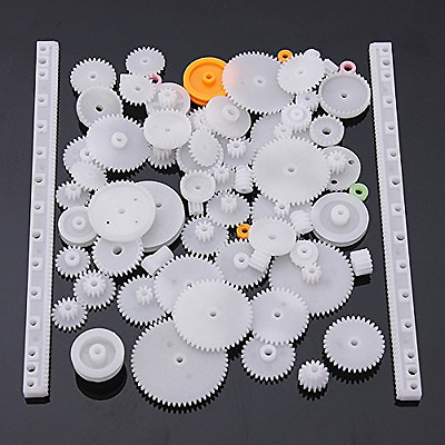 75 Assorted Plastic Crown Gear Single Double Reduction Worm Small Parts Wheel Up