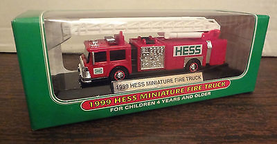 Hess 1999 Miniature Mini FIRE ENGINE TRUCK with Ladder MIB NEW