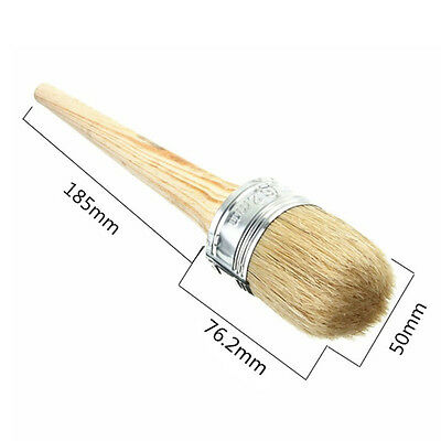 1pc Chalk Wax Paint Brush for Painting or Waxing Furniture Round Wooden Handle