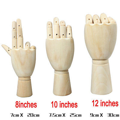 Wooden Hand Body Artists Model Jointed Articulated Wood Artwork Sculpture 6339HC