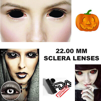 Sclera Halloween Crazy Contact Lenses Kontaktlinsen contact lens color ONE PAIR