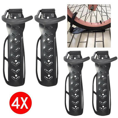 4X Black Steel Bicycle Mountain Bike Storage Wall Mounted Rack Stands Hanger