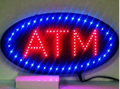 """19""""x10"""" Animated Motion LED ATM Machine Sign On/Off Open Ultra Brighter Light VI"""
