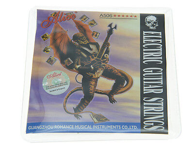 5 Sets Alice Plated Steel Electric Guitar Strings Extra Light 1st-6th .008-.038