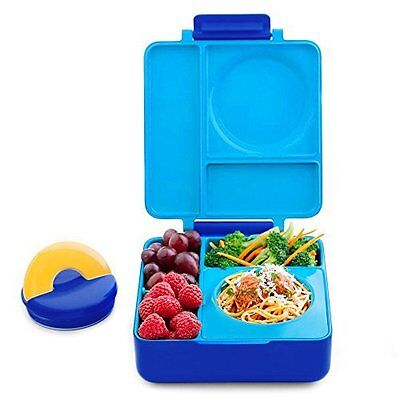 Omie Box Bento Lunch Box With Insulated Thermos For Kids Thermos Food Jar Blue S