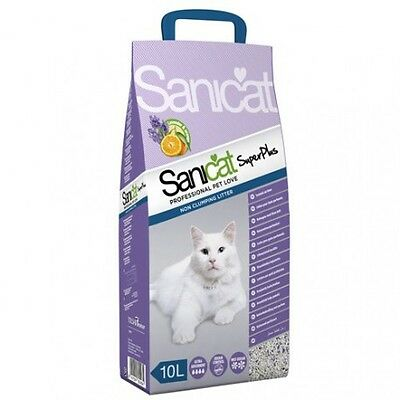 Arena Sanicat Super Plus Lavanda y Orange 5 Litros