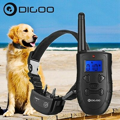 Digoo Rechargeable Waterproof LCD Electric Remote Shock Bark Collar Dog Trainer