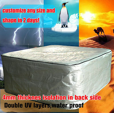 hot tub cover cap size 1900X1350X1000 cm ,depth 100cm spa cover sun shield