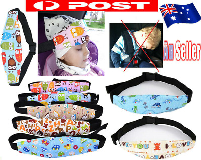 Baby Car Seat Headrest kids Travel Strap Sleeping Head Rest Support Pad Pillows