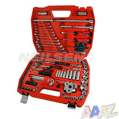 121PC Mixed Drive Socket & Bit Set With Plastic Carry Case
