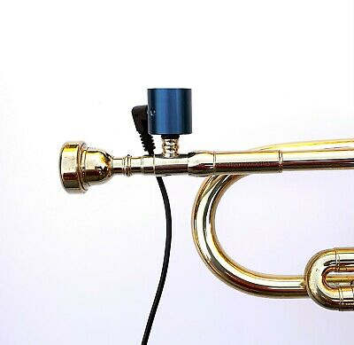 Trumpet PiezoBarrel P9 Pickup microphone, Bach style 5C Mouthpiece and 4m Cable