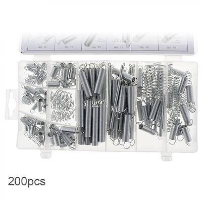 200PCS Electrical Hardware 124 Extension Springs76 Compression Springs  with Box