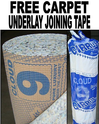 Buy Per M² Cloud 9 Cirrus 9mm Carpet Underlay + FREE Underlay Joining Tape!