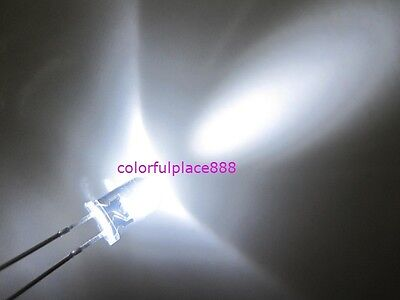 100pcs, 5mm White 20,000MCD Round High Power Super Bright Water Clear LED Leds