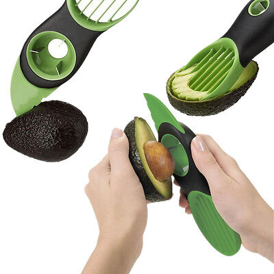 1Pcs 3-in-1 Avocado Slicer Safety Kitchen Pit Fruit Tool Blade Cooking Plastic