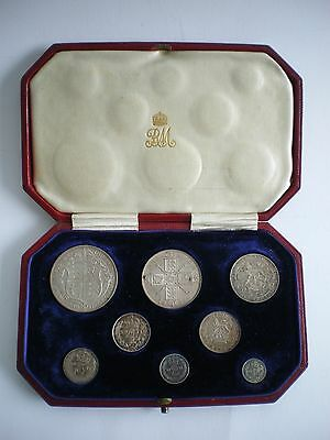1911 ROYAL MINT KING GEORGE V PROOF 8 COIN SET - Halfcrown to Maundy Penny.