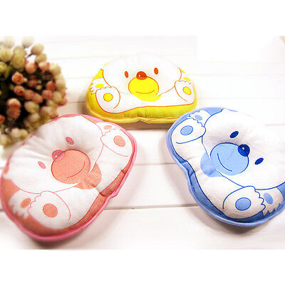 Bear Prevent Flat Head Cotton Baby Infant Kid Soft Cot Pillow Cushion Pad Useful