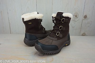 878d89d869a UGG OSTRANDER STOUT Leather Sheepskin Cold Weather Snow Boots Us 7 Nib