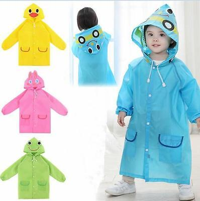 Kids Waterproof Cartoon New Cute Rainwear Raincoat Children Baby Funny