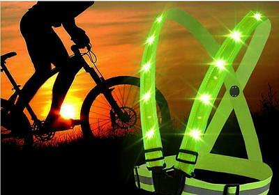 Stripes Adjustable Safety Gear High Visibility Vest Security Reflective New