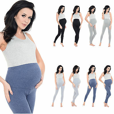 Purpless Maternity Pregnancy Leggings Stretchy Over Bump Full Length Size 1025