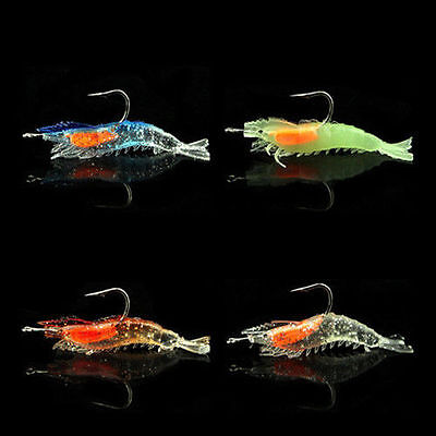 3D Minnow Fish Hooks Tackle Fishing Lure Night Crankbait Plastic Hot Bass