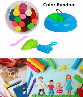 14Pcs New Kids Play Dough Doh Clay Modeling Cutter Tool Toy Craft Gift Set BUAU