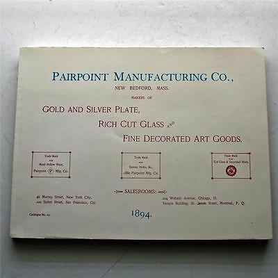 Copy of 1894 Pairpoint Sales Catalog, 198 Pages