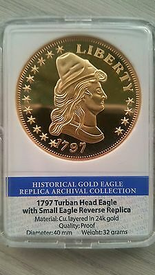 1797 Turban Head Eagle Collectors Coin by American Mint Rep