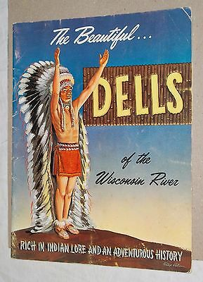 ***vintage 1959 Wisconsin River Dells Tourist Advertising Brochure***w/map