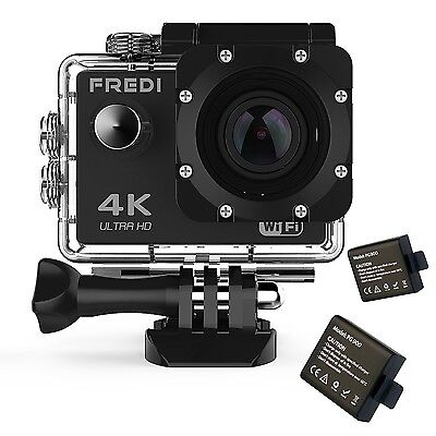 FREDI Action Camera 4K WIFI Sports Action Camera Ultra HD Waterproof... [NO VAT]
