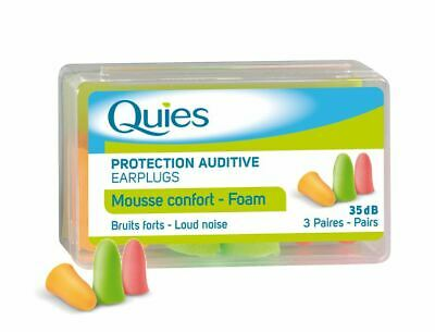 Quies Foam Earplugs 3 Pairs 1 2 3 6 12 Packs