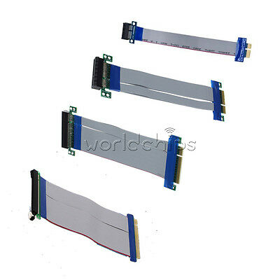 Professional PCI-E1X /4X /8X /16X Riser Card Ribbon Extender Extension Cable