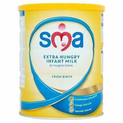 SMA Extra Hungry Infant Milk From Birth 800g 1 2 3 6 12 Packs