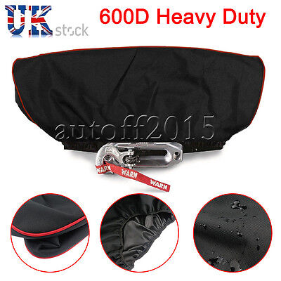 600D Soft Winch Dust Cover Driver Recovery 8,500 to 17,500 lbs Heavy Duty UK