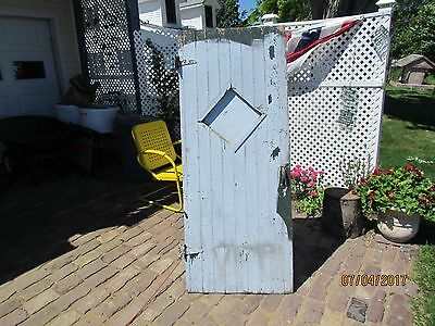 Antique Vintage Reclaimed Primitive Outhouse John Crapper Fruit Cellar Door