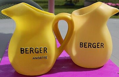 Lot 2 Pichets / Cruche Plastique Berger  Made In France