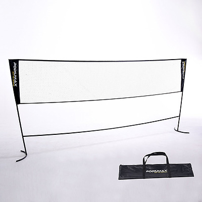 PodiuMax Portable Family Badminton Set, 3 Meter Width Net with Poles & Carrying