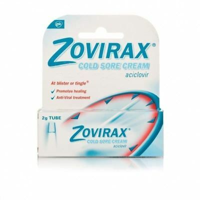 Zovirax Cold Sore Cream Tube 2g 1 2 3 6 12 Packs