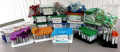Vacutainer Vacuette Blood Draw Tubes LOT of 1100+ exp 2017