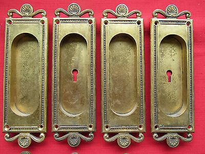 Antique Yale and Towne Brass Pocket Door Pulls - SOLD IN PAIRS