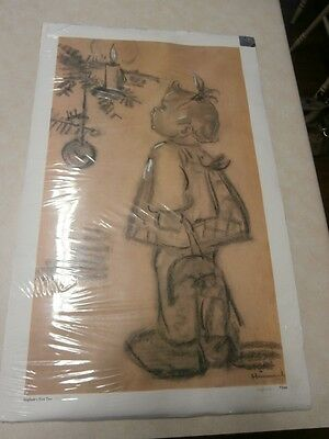 Signed Limited Edition Print #766  M J Hummel Sieglinde's First Tree