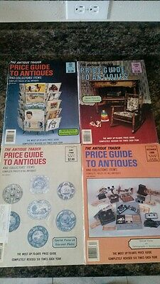 The Antique Trader Price Guide to Antiques lot of 4 1980s