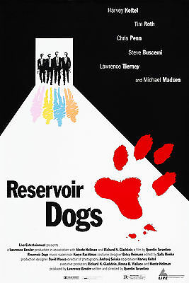 Reservoir Dogs (1992) Original Movie Poster Rolled - Cannes Film Festival - Mint